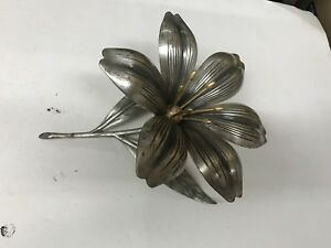 Large Antique Art Nouveau Metal Flower Petal Trays S Agudo Ash Trays S1
