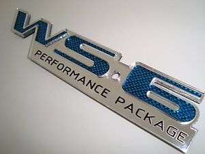 Ws6 Emblem Blue Carbon Fiber Design 30th Anniversary Pontiac Trans Am Firebird