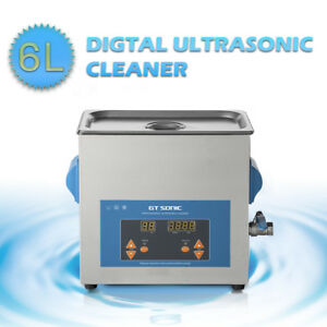 Durable 6l Digital Ultrasonic Cleaner Stainless Steel Jewelry Cleaning Timer Us