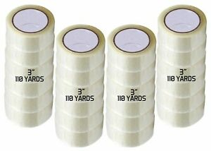 Patron 24 Rolls 3 X 330 110 Yards Clear Jumbo Packing Tape 1 8 Mil