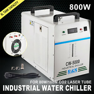 Cw 5000dg Industrial Water Chiller 6l Tank Glass Laser Tube Temperature Newest
