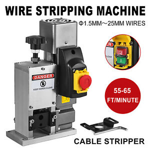 Electric Wire Stripping Machine Copper Cable Peeling Stripper W Drill Connector