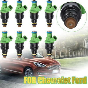 8pcs Fuel Injectors 0280150558 4 Hole For Ford Mustang Chevrolet 42lb Flow Rate
