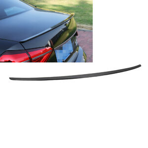 Painted Black Rear Spoiler Wing Trunk Lip Trim For Vw Passat B7 12 18 Usa Style