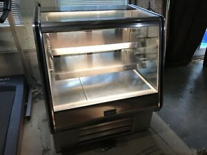 Used Coolman Stainless Commercial Refrigerated Counter Bakery Display Case 36