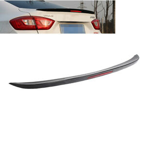 Painted Black For Chevrolet Cruze 17 19 Rear Spoiler Wing Trunk Lip W Reflector