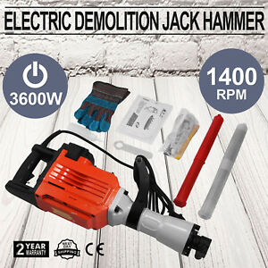 3600w Electric Demolition Jack Hammer Punch Brick Breaking Construction Great
