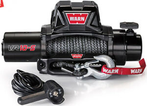 Warn 96815 Vr10s 10000lb Winch 12v Hawse Fairlead 90 3 8 Synthetic Rope