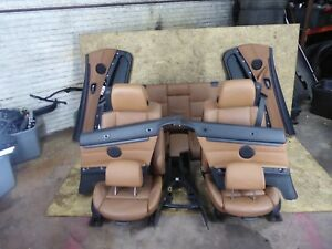 Bmw E93 Convertible Seats Seat Set Door Panel Console Sattelbraun Heated Oem