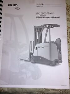 Crown Fc 5500 Series Ac Traction Service Parts Manual Forklift Equipment Book