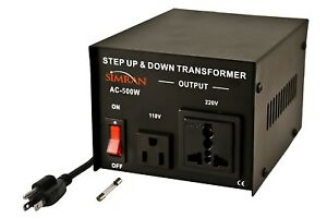 Simran Ac 500 Step Up down Voltage Converter Transformer 110v 220v 500 Watts