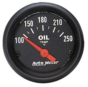 Auto Meter Z series Electric 100 250 Deg F Oil Temperature Gauge 2 1 16 52mm