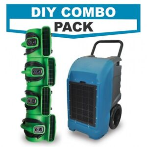 Commercial Grade Dehumidifier Powerful Air Mover Blowers Diy Combo Pack