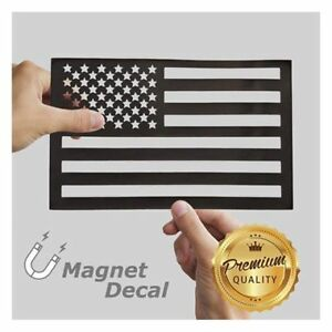 White Rhino American Flag Car Magnet Decal Cut Out Black 5 5 X 9 Inches 1 Pack
