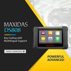 Autel Ds808 Maxidas Vehicle Reader Diagnostic Scanner Service Ecu Immo Key Tool