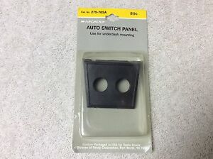 Auto Switch Panel Dash Mount Two Toggle Switch Plastic Black 275 705a