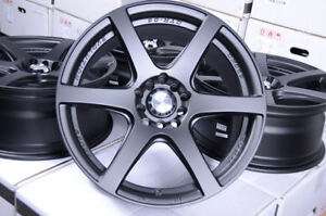 17 Wheels Honda Accord Civic Toyota Camry Celica Corolla Prius Black Rims 5 Lug