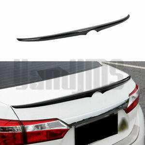 Painted Black For Toyota Corolla 14 18 Rear Spoiler Wing Trunk Lip Factory Style