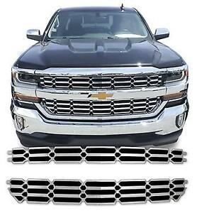 Chrome Overlay Grille For Chevy Silverado 1500 2016 2018