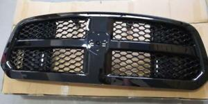 2013 2017 Dodge Ram 1500 Glossy Blk Oe Honeycomb Mesh Front Bumper Grill Grille