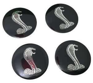 Four New Ford Mustang Shelby Gt Svt Cobra Snake Wheel Center Cap Decals Emblems
