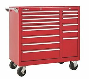 15 drawer Rolling Tool Storage chest box Cabinet Sliding Drawers 39 Red
