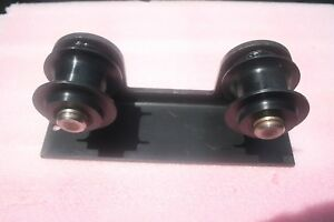 Forklift Hose Pulleys Two 3 Black Plastic Rollers On Bracket