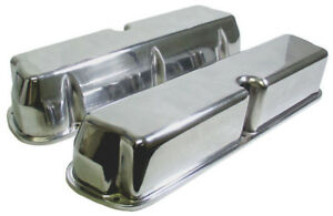 New Sbf Tall Valve Covers polished Aluminum small Block Ford no Holes