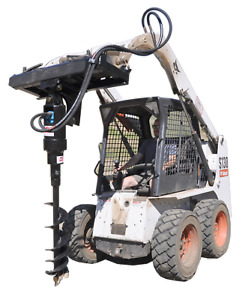 Tooltuff S21 Hydraulic Skid Steer Earth Auger Combo W Bits Hoses Fittings