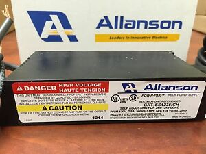 Allanson Ss1235ich Self Adjusting 2k 12kv 35ma Electronic Neon Sign Transformer