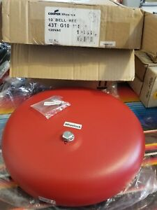 Cooper Wheelock 10 Bell Red Fire Alarm Device 43t g10 115