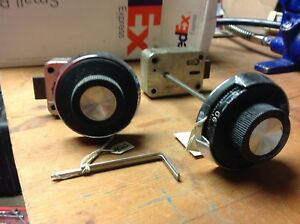 Two Used Mosler Combination Locks both Have Spy Dials Number 302 302 With Chang
