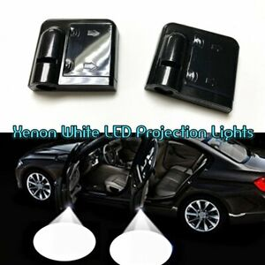 2x Wireless Ghost Shadow Projector Logo Led Door Step Light Courtesy For Bmw