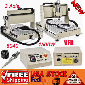 3 Axis 1500w Cnc Router 6040 Woodworking Engraver Engraving Machine 3d Carving