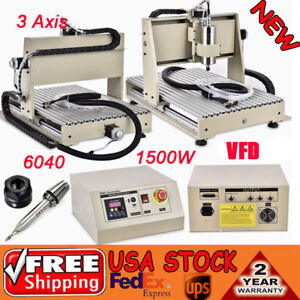3axis 1500w Cnc Router 6040 Metal Woodwork Engraver Engraving Machine 3d Carving