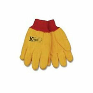 Kinco Chore Yellow Cotton Work Gloves Size Xlarge Farm Construction 12 Pairs