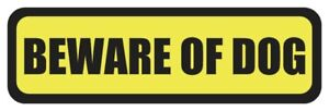 Beware Of Dog Stickers 4 Pack Security Sign Window Decal Logo System Bad Dogs