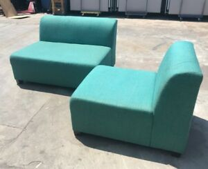 Peacock Color Reception Sofa local Pick Up Only