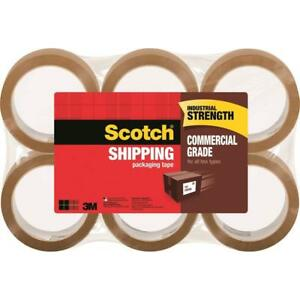 3750t 6 3m Scotch Commercial Grade Shipping Packaging Tape Tan 6 Pack