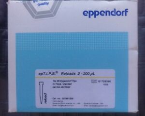 Eppendorf Eptips Reloads 2 200 Ul Yellow 10x96 960 Tips New