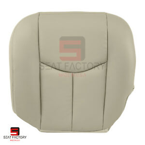 2003 2004 2005 2006 Chevy Tahoe Front Driver Bottom Vinyl Seat Cover Light Tan