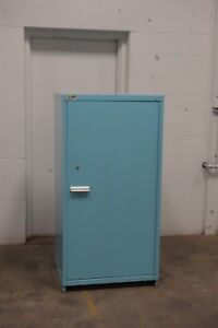 Used Vidmar 2 Shelf Door Cabinet Industrial Tool Parts Storage 1505