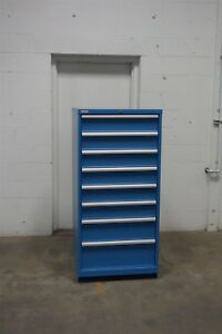 Used Lista 8 Drawer Cabinet Industrial Tool Parts Storage 1502 Vidmar