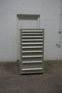Used Vidmar 10 Drawer Cabinet Industrial Tool Parts Storage 653