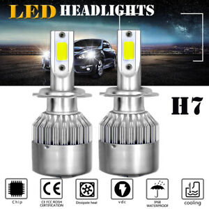 Led Car Accessories H7 Headlight 6000k Led Driving Halogen Lights Super White 2x