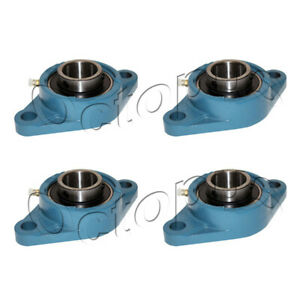 4 Pcs Ucfl 208 24 Self align 2 Bolt Flange Pillow Block Bearing 1 1 2 Inch