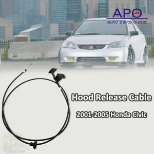 Hood Release Cable With Handle For 2001 2002 2003 2005 Honda Civic 74130s5da01za