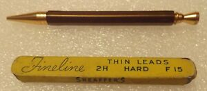 Vintage mechanical Lead Pencil and Box of SHEAFFER'S Thinline Hard Leads