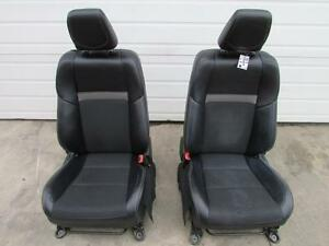 2013 Toyota Camry Xle Front Seats Pair Black Leather W Fabric Insert 12 15