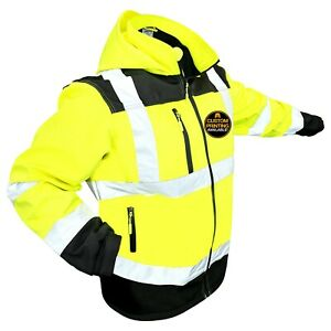 Kwiksafety Agent Reflective Hi Vis Soft Shell Ansi Class 3 Safety Jacket